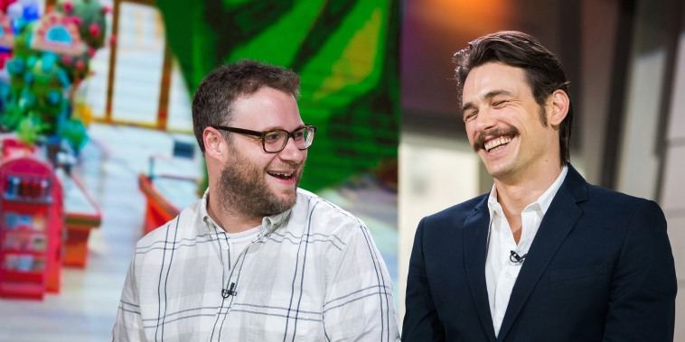 """Seth Rogen and James Franco appear on NBC's \""""TODAY\"""" show on Aug. 5, 2016."""