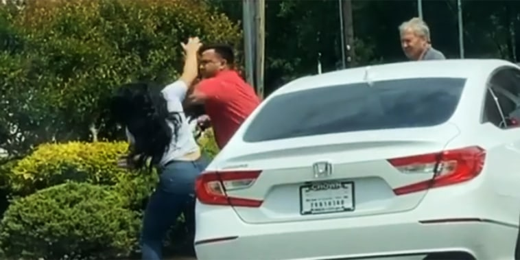 Image: Gas station fight