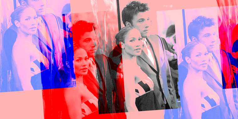 Photo illustration: Photos of Jennifer Lopez and Ben Affleck.