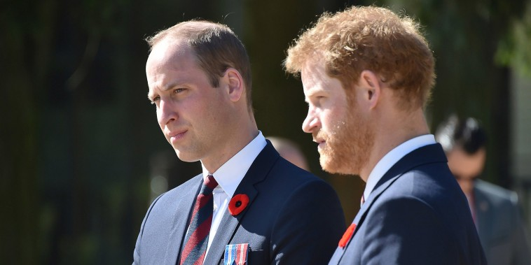 Image: Britain's Prince William, Duke of Cambridge and Britain's Prince Harry visit the Canadian National Vimy Memorial in Vimy