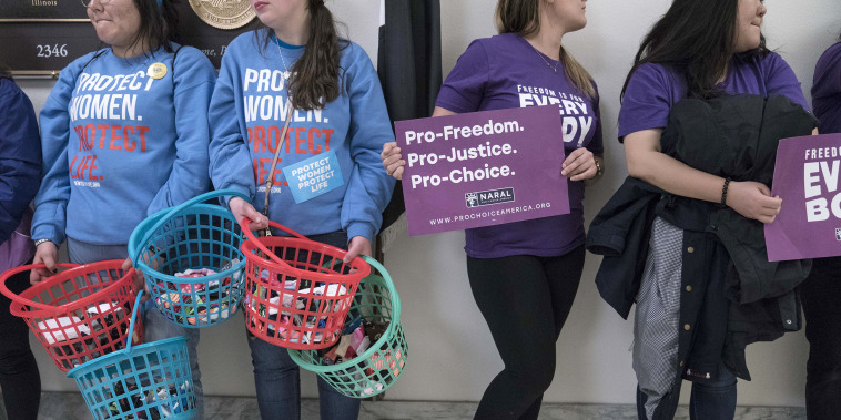 Image: Advocates Rally In Washington As Arguments In Supreme Court Abortion Case June Medical Services V. Russo Are Heard