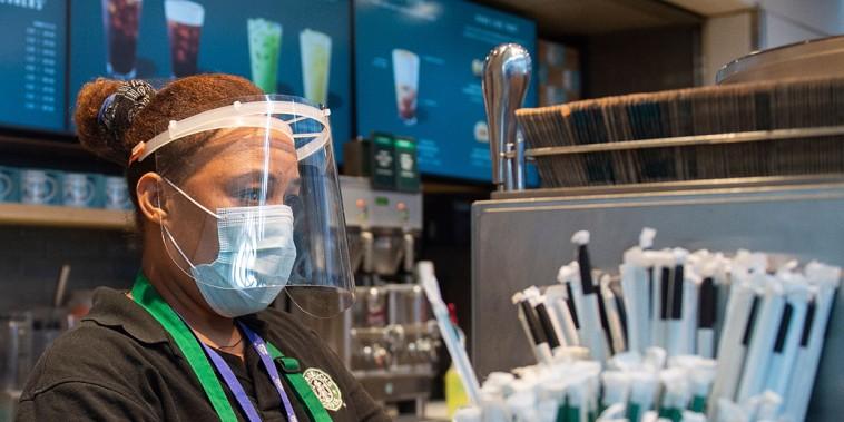 Image: Starbucks employee