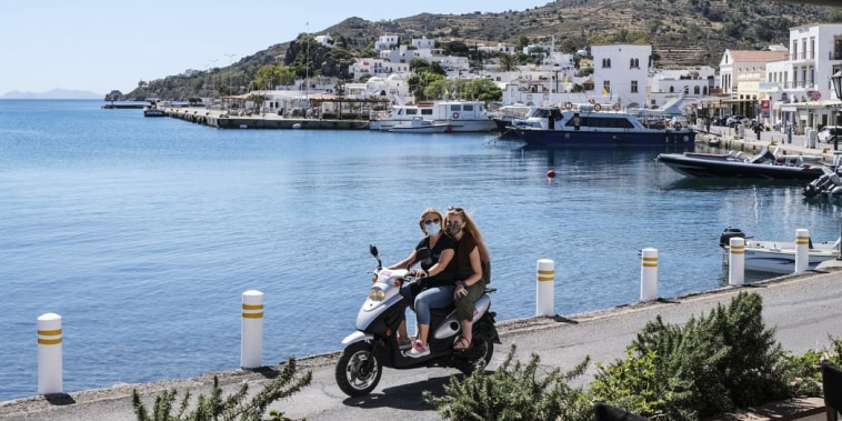 Image: Greek Islands Hope For Eased Travel Rules To Revive Summer Tourism