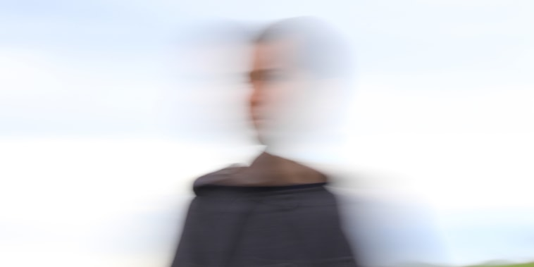 Blurred Motion Of Man Against Sky