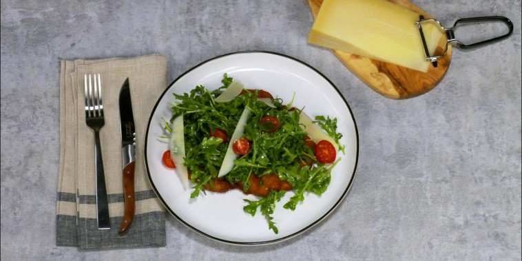 Make chicken Milanese with a summery arugula topping.