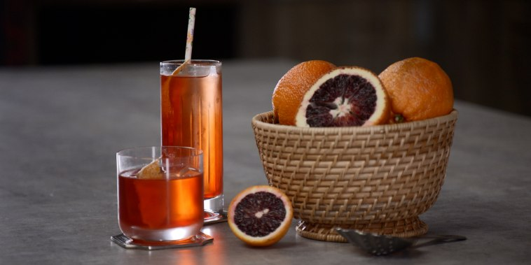 Enjoy a chilled Italian Negroni on a hot summer night.