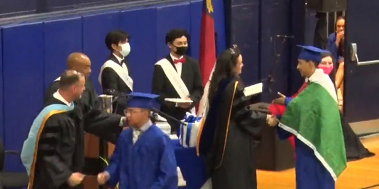 A North Carolina graduating senior was allegedly denied his diploma for wearing a Mexican flag over his graduation gown.