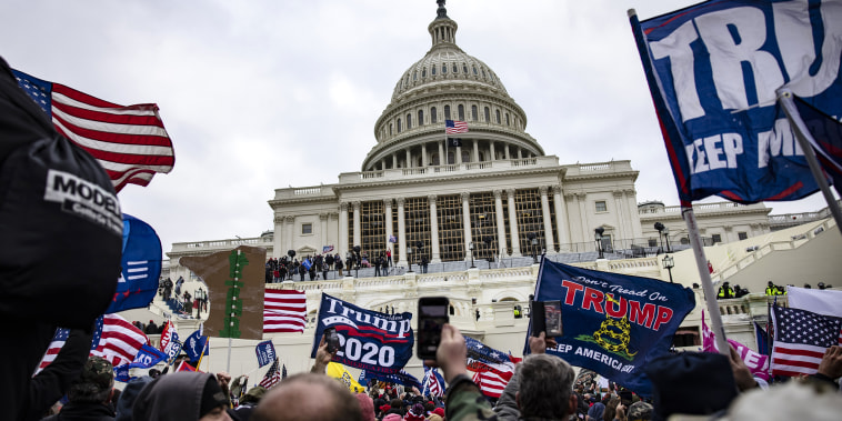 Image: Pro-Trump supporters outside the U.S. Capitol in Washington, DC.