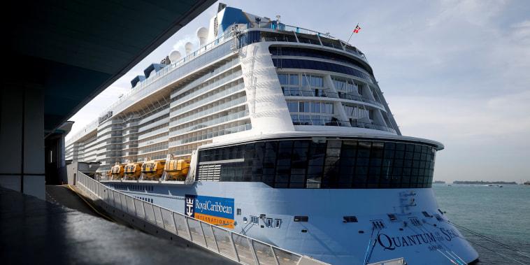 Royal Caribbean's Quantum of the Seas cruise ship docks