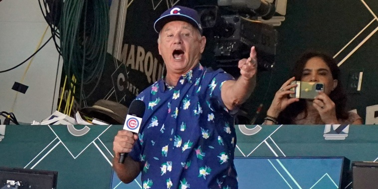 """Bill Murray sings """"Take Me Out to the Ball Game"""""""