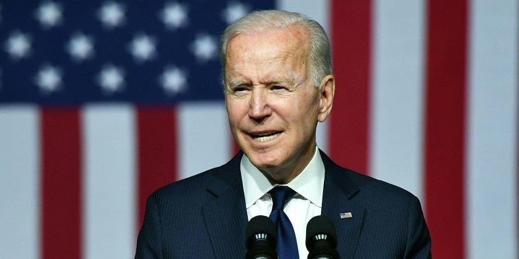 President Joe Biden speaks in Tulsa, Okla., on June 1, 2021.