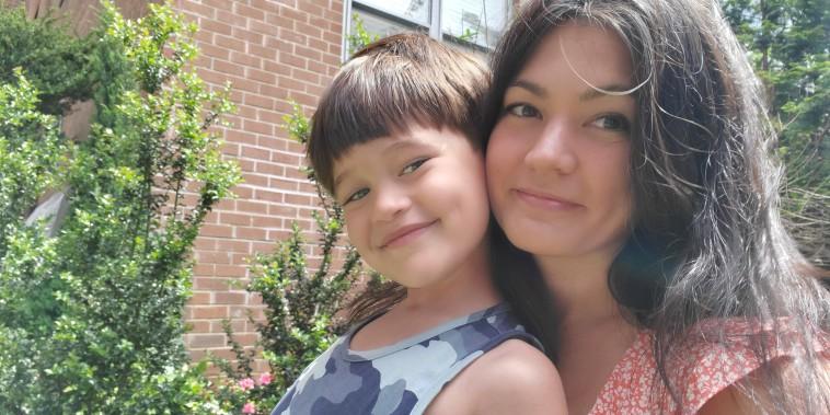 Cat Rakowski with her son Lincoln, 5.