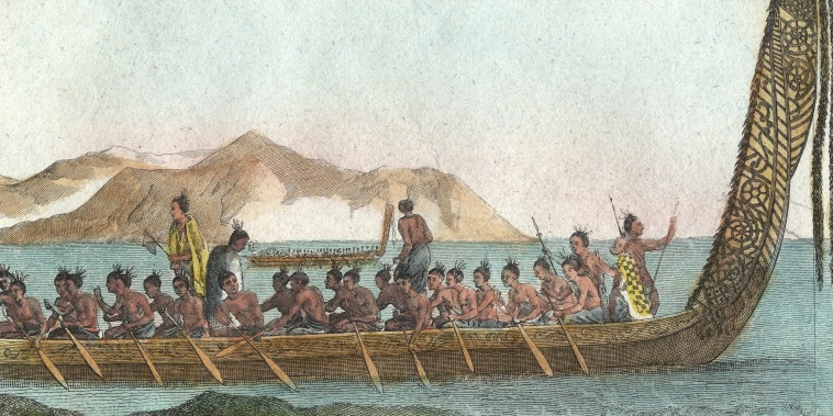 Image: A Maori war canoe