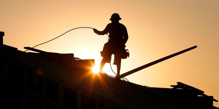 Image: construction worker in Queen Creek, Ariz.