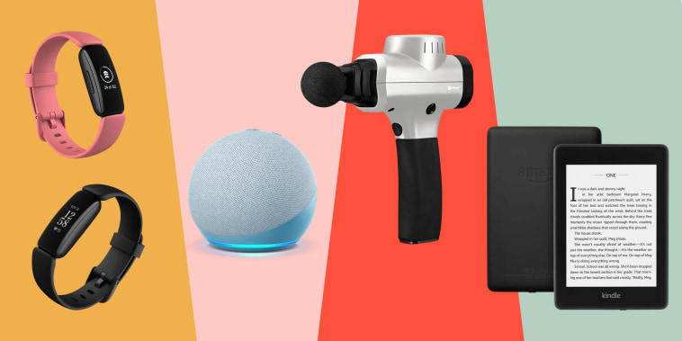 Illustration of different Amazon tech products on sale on Amazon Prime Day