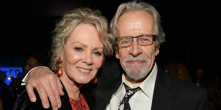 Jean Smart and Richard Gilliland attend the 25th Annual Critics' Choice Awards at Barker Hangar on January 12, 2020.