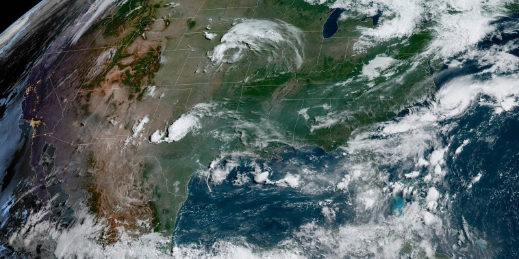 Image: Satellite imagery over U.S. on June 14, 2021.
