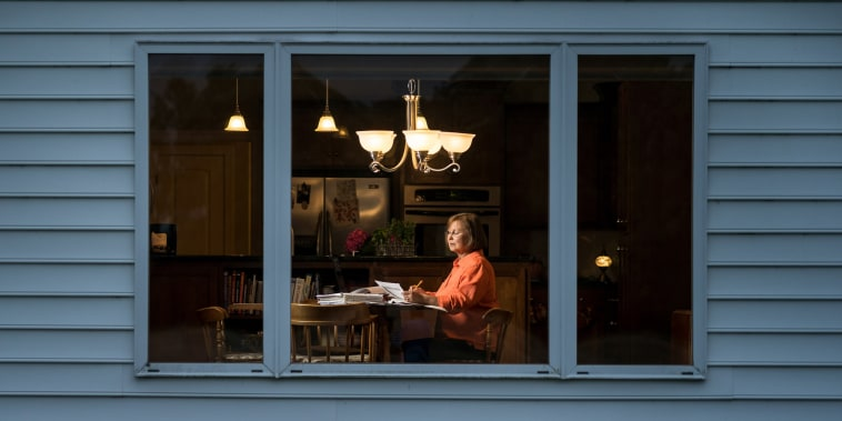 Image: Michelle Galloway at her rural home in Kenly, N.C.