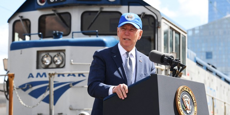 US-POLITICS-BIDEN-transport-rail