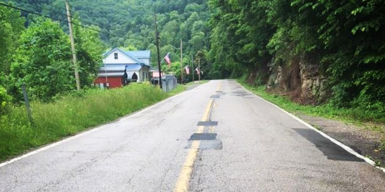 Route 4, between Ivydale and Clay, in Clay County, W.Va.