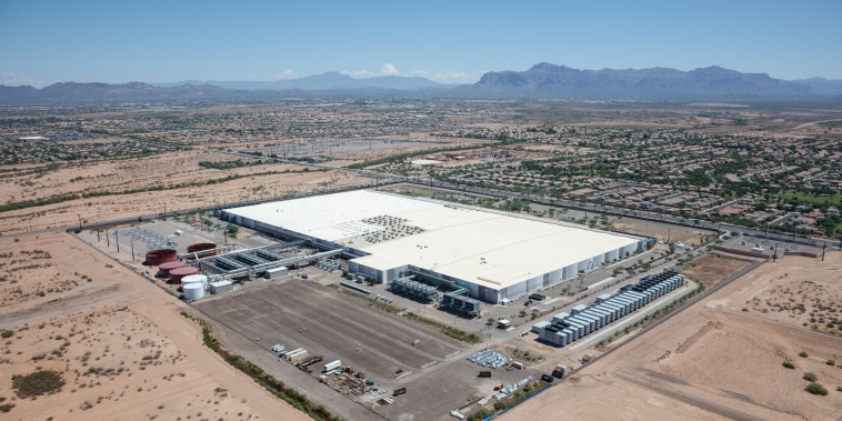 Aerial view of the Apple Data Center in Mesa near Phoenix