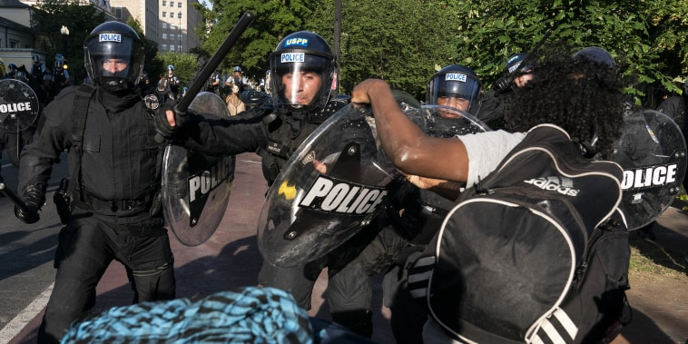 Image: Protesters Demonstrate In D.C. Against Death Of George Floyd By Police Officer In Minneapolis