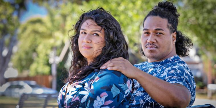 Marissa Santa Cruz and Paea Tukuafu