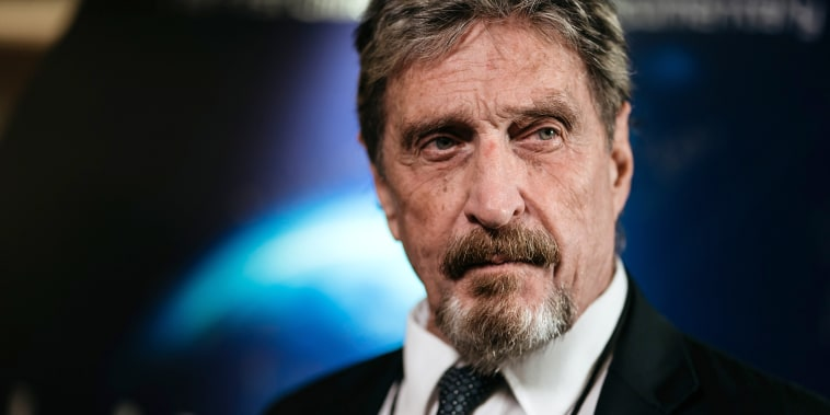 John McAfee during a Bloomberg Television interview in Hong Kong Sept. 20, 2017.