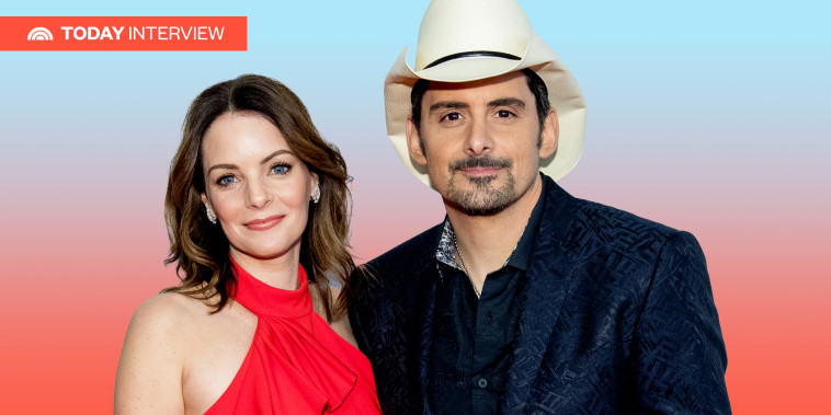 Brad Paisley is joined on stage by Actress Kimberly Paisley Williams
