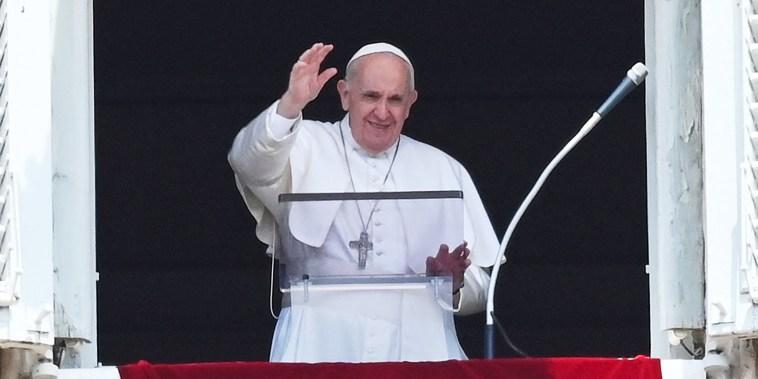 Image: VATICAN-RELIGION-POPE-ANGELUS