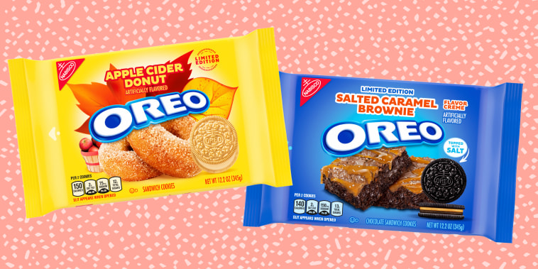 Illustration of both packages of Oreo flavors