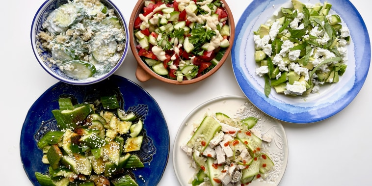How to make a variety of cucumber salads for summer