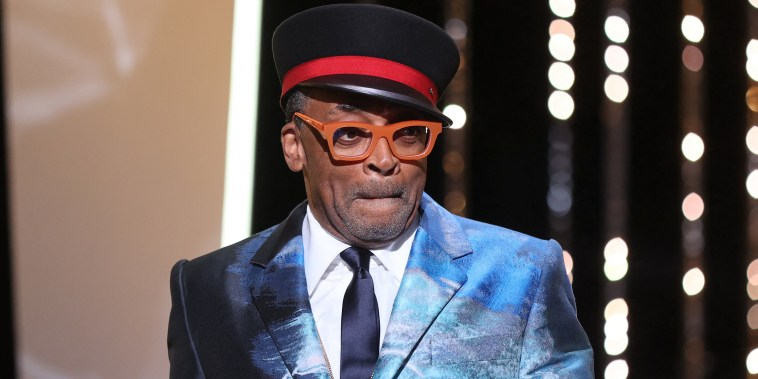 Spike Lee on stage during the closing ceremony of the Cannes Film Festival