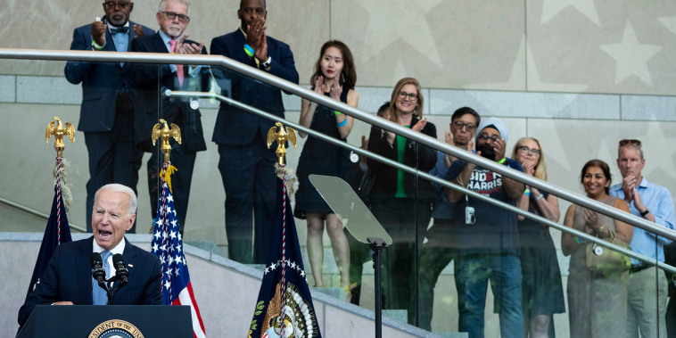 Image: President Joe Biden speaks about voting rights at the National Constitution Center on July 13, 2021 in Philadelphia.