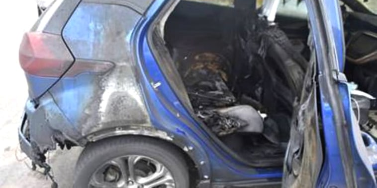 A 2019 Chevrolet Bolt EV that caught fire on July 1, 2021 in the driveway of state Rep. Timothy Briglin