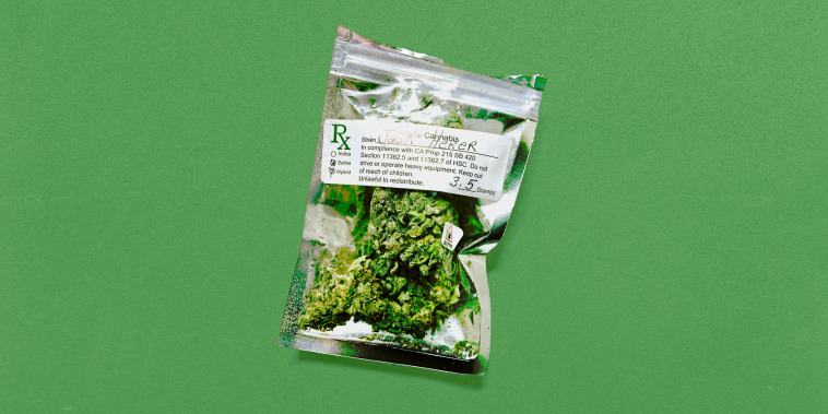 Medical cannabis in package from dispensary