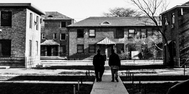 The condemned Ida B. Wells housing project in Chicago on Apr. 24, 2002.