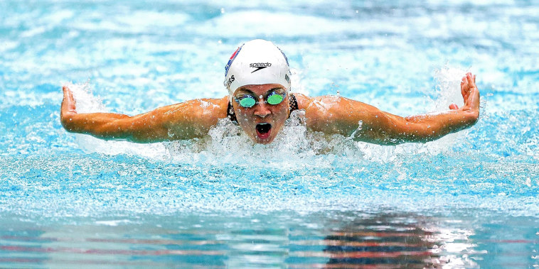 Becca Meyers of the United States competes in the 200m Individual Medley during day 3 of the 2021 U.S. Paralympic Swimming Trials on June 19, 2021 in Minneapolis.