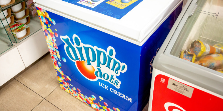 Newport Beach, California/United States - 06/20/2019: A small Dippin' Dots freezer at a convenience store; Shutterstock ID 1457272067; purchase_order: today.com; job: TODAY; client: Tyler; other: