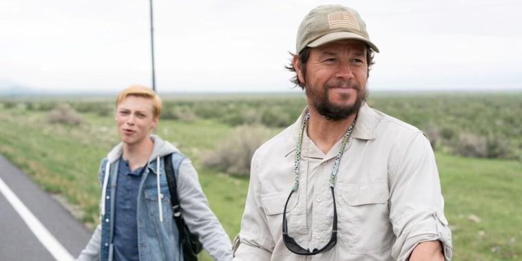 """Mark Wahlberg with Reid Miller in \""""Joe Bell.\"""""""