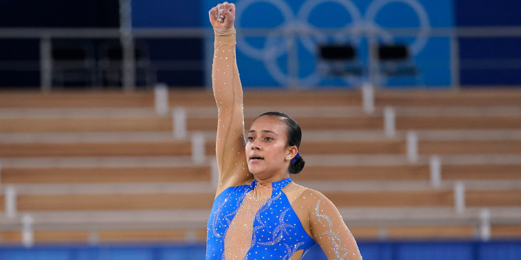Luciana Alvarado, of Costa Rica, performs on the floor exercise.
