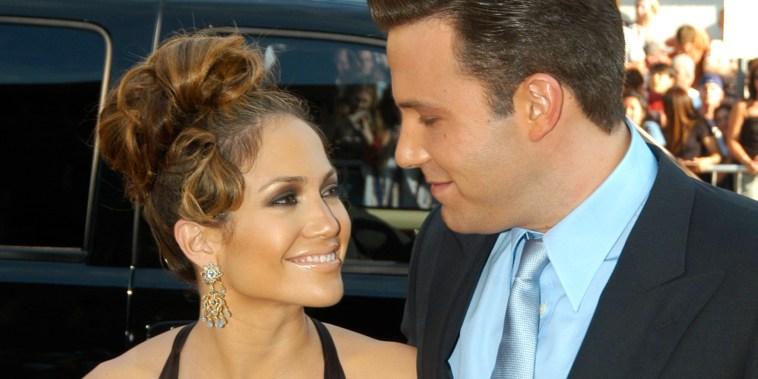 Jennifer Lopez and Ben Affleck in 2003