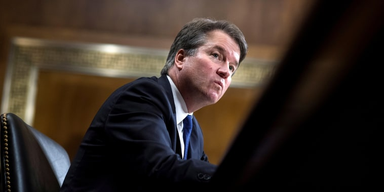 Image: FILE PHOTO: Judge Kavanaugh testifies during the Senate Judiciary Committee hearing on his nomination be an associate justice of the Supreme Court of the United States in Washington