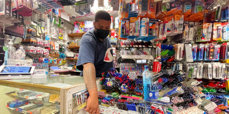 Image: School supplies on display at Stationery and Toy World in New York City