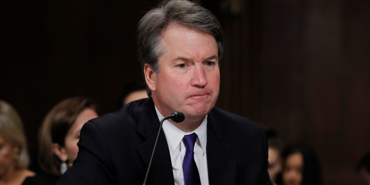 Judge Brett Kavanaugh testifies during his confirmation hearing on Capitol Hill on Sept. 27, 2018.