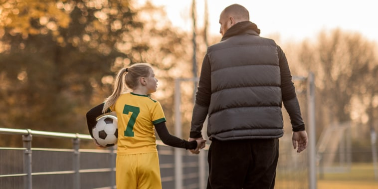 Soccer father sports chaperone