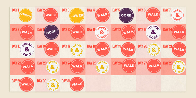 Illustration of calendar with stickers on top of the days