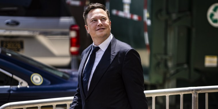 Elon Musk, chief executive officer of Tesla Inc., in Wilmington, Del., on July 13, 2021.