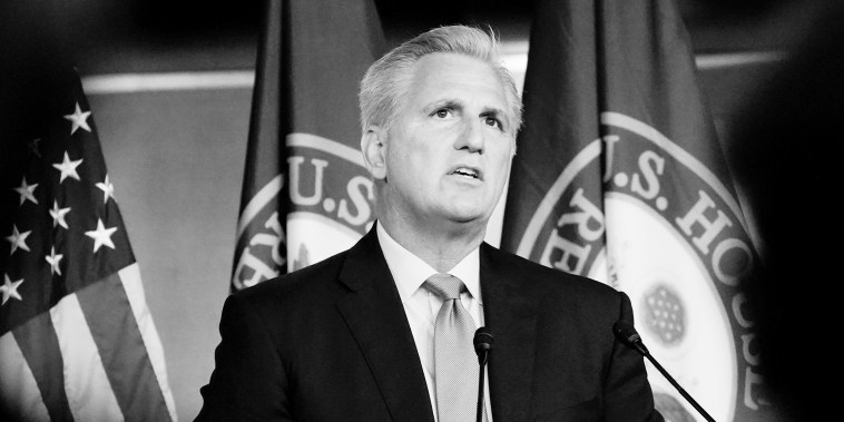 Image: Minority Leader Kevin McCarthy during a news conference at the Capitol on July 22, 2021.