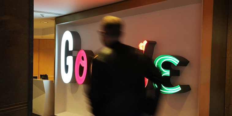 Image: A person walks into Google's New York offices on March 5, 2018.